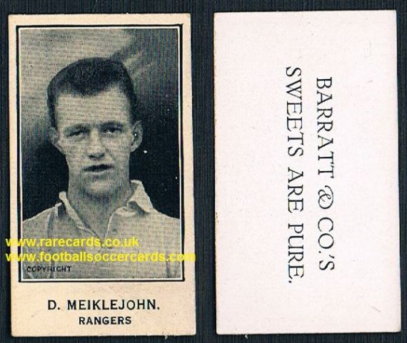 1926 D. Meiklejohn GLOSSY Glasgow Rangers Barratt's Sweets Are Pure card.jpg